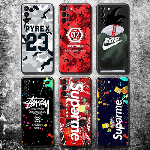 Nike Supreme コンボ ブランド 迷彩色 iphone 12 mini/12 pro max/11 pro max/se2ケース 陰陽魚 Stussy Aape カラー PYREX VISION ソフトシリコン galaxy s21/s21+/s21 ultra/s20/s10/s9/s8/note10/note9/note8ケース メンズ レディース