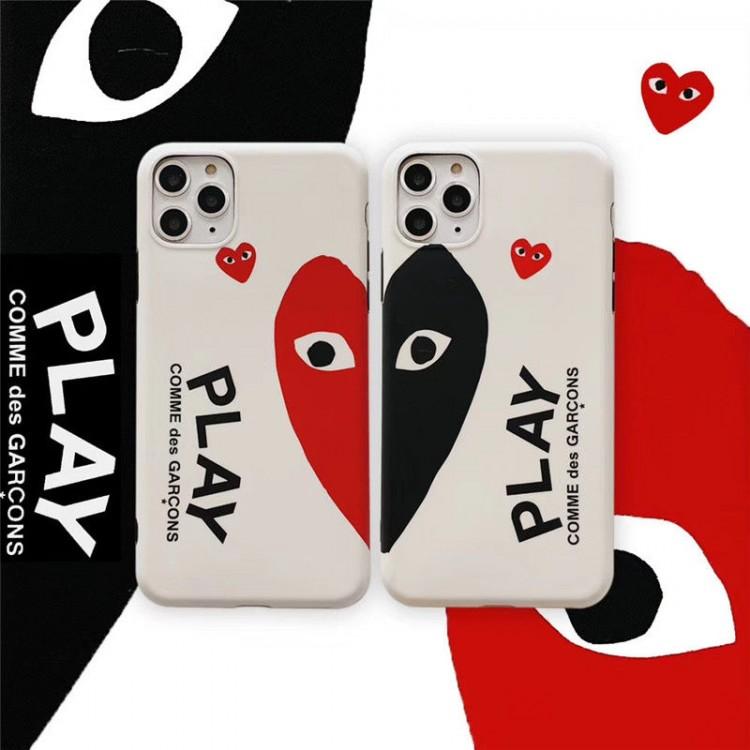 コムデギャルソン ブランド iphone12 mini/12 pro maxケース CDG モノグラムケース ペアお揃い アイフォン12/12 pro/11pro maxケース ファッション iphone11/xs/x/8/7ケース