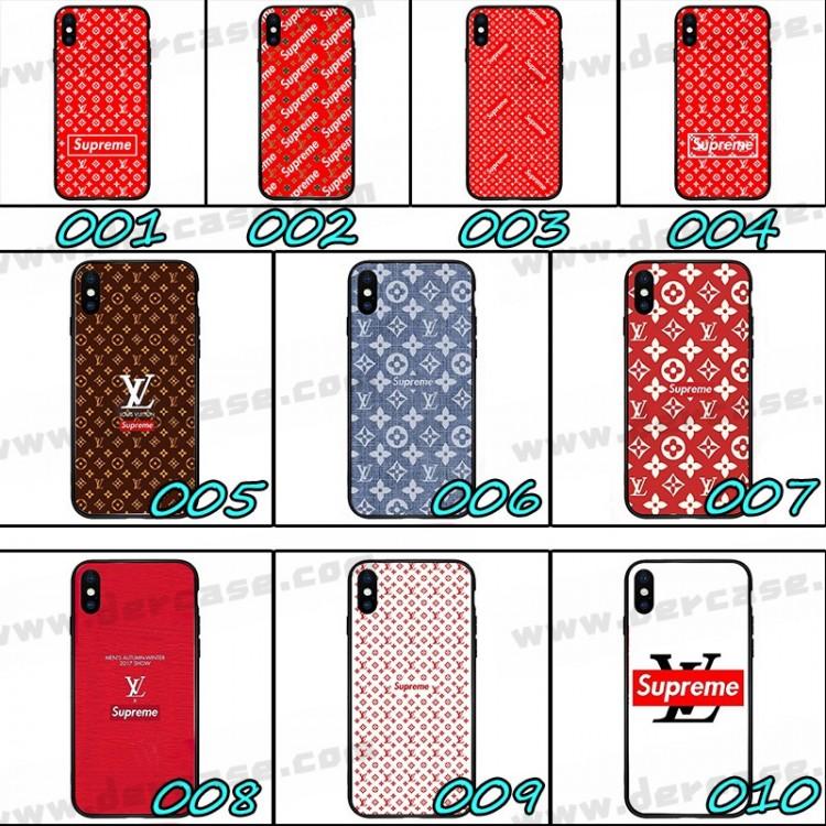 ルイヴィトン シュプリーム コラボ デニム風 Galaxy A51 AQUOS sense 4/4 Plusケース 赤色 iphone 12 mini AQUOS zero 5G basicカバー xperia 5 ii 1 ii 10 iiケースジャケットスマホケース コピー