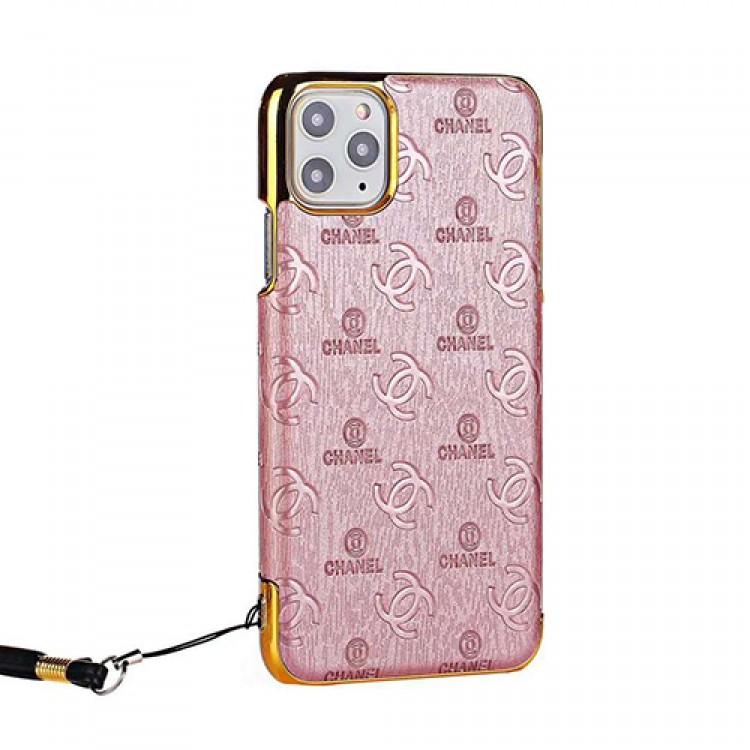 Chanel/シャネルiphone12/12mini/12pro/12pro maxケース ビジネス ストラップ付きins風 iphone 12/11 proケースかわいいレディース アイフォiphone12/xs/11/8 plusケース おまけつき