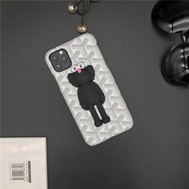 ゴヤール ブランド 3D 激安 Goyard カウズ iphone 12 pro/12 mini/12 pro max/11 pro/11 pro max/se2ケース KAWS ジャケット型 アイフォン12/11/x/xs/xr/8/7スマホケース コピー Huawei p40/MATE40カバー メンズ レディース