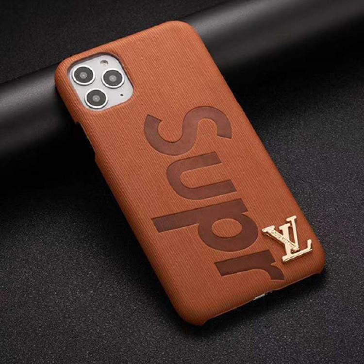 ルイヴィトン シュプリーム コンボ iphone 12 mini/12 pro max/11 pro max/11/se2ケース 立体ロゴ lv Supreme 激安 アイフォン12/12 pro/11 proケースジャケット型 カラー  iphone x/xs/xs max/xr/8/7/6スマホケース コピー