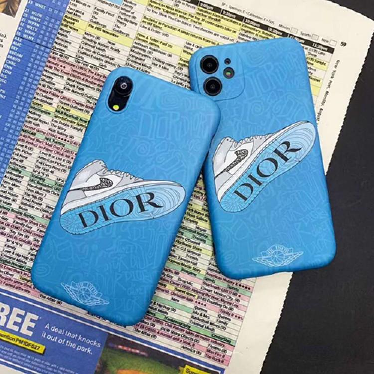 ディオール ナイキ ハイブランド iPhone 12 mini/12 pro max/11 pro max/se2ケース 全機種対応 Dior スニーカー柄 Nike 激安 Air Jordan アイフォン 11 pro maxケースジャケット型 スマホケース セレブ愛用ケース パロディ メンズ レディース コピー