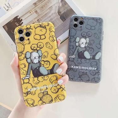 Kawsペアお揃い アイフォン12/12 mini/12 pro/12 pro maxケース iphone 11/xs/x/8/7ケース男女兼用人気ブランドiphone12/xrケースins風レディース アイフォiphone12/xs/11/8 plusケース おまけつき