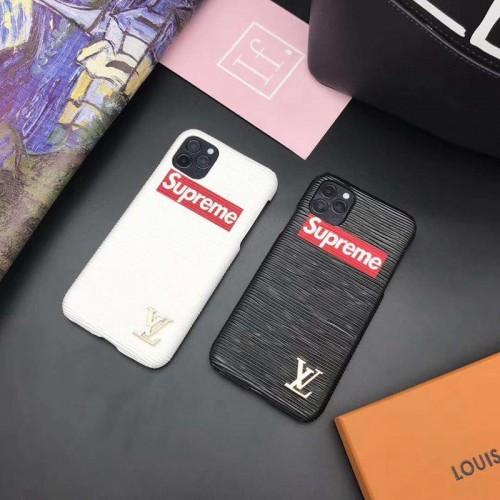 lv Supreme コンボ ブランド iphone 12 mini/12 pro max/11 pro/11 pro max/se2ケース シンプル ルイ·ヴィトン 韓国風 シュプリーム モノグラム iphone 12/11/x/xs/xr/7/8 plusケース 激安 ジャケットケース 8色 コピー