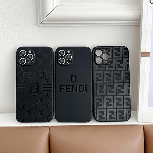 フェンディ ブランド iphone 13 pro max/13 pro/13mini/13ケースブラック黒クルー Fendiアイフォン12pro/12pro max/12mini/12シリコンカバー 柔らかい耐衝撃モノグラム 贅沢 iphone 11pro/11pro max/se2保護ケース おしゃれ 大人気 メンズ