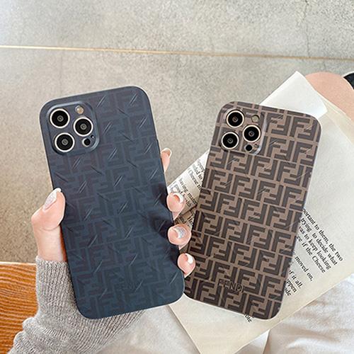 iPhone13 pro maxケース フェンディ ブランド おしゃれ 経典柄 Fendi アイフォン12 pro max/12 pro/12 mini スマホカバー 個性 突起 デザイン iphone11pro/11 pro max/se2ケース 柔らかい シリコン 保護 シンプル 高級 メンズ レディース