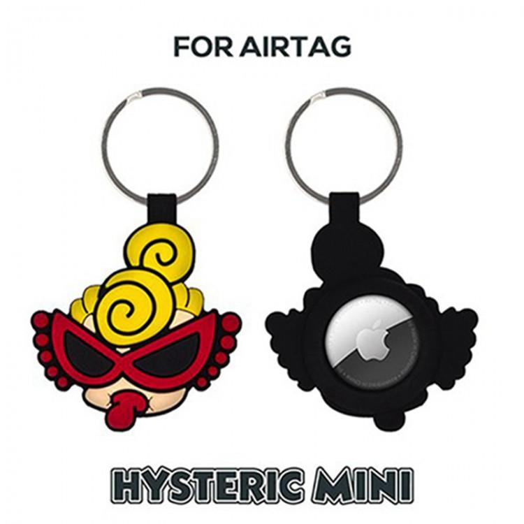 Hysteric Mini ブランド AirTagアクセサリー シリコン製保護カバー ヒステリックミニ エアタグカバー かわいい HYSTERIC MINI キーファインダー GPS 子供ファインダーデバイス  紛失防止 トラッカー メンズ レディース