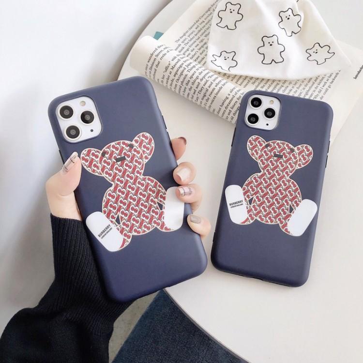 バーバリー iPhone 13/12/12 mini/12 pro/12 pro max/11ケース ブランド 経典 個性熊柄ケース BURBERRY ファッション アイフォン11pro max/x/xs/xr/8/7ケース 高級 人気 ファッション メンズ レディース