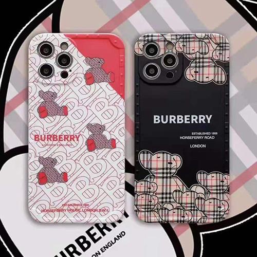 ブランド Burberry iphone13/12s/12 pro max/11 pro max/xr ケース モノグラム 熊さん iphone 12Pro /11pro/xs max/8 plus ケース マット調 おしゃれ アイフォン 12mini /11/xs /7 plus/8 ケース レンズカバー レディース 人気 メンズ