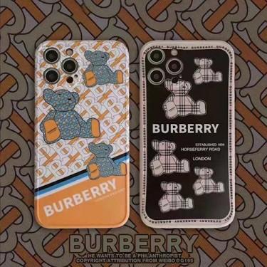 バーバリー ブランド iphone 13/12 pro/12 pro max/12 mini /12ケース ジャケット型 かわいい 熊柄 Burberryアイフォン11/11 pro/11 pro maxケース モノグラム レンズ 保護 iphone se2/xr/xs/x/xs maxケース おしゃれ 韓国スタイル 男女