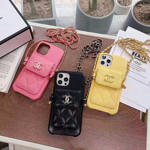シャネルブランドiphone13/12 pro max/11 pro max/se2ケース高級革 iphone 12Pro /11pro/xs max/8 plus ケースポケット付きおしゃれ Chanel アイフォン 12mini /11/xs /7 plus/8ケースチェーン付き綺麗ファッションレディース愛用