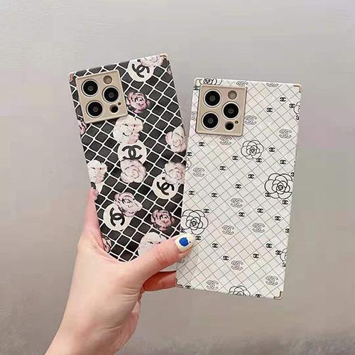 Chanel シャネル ブランド iphone 13/12 pro/12 pro max/12スマホカバー ヨニーク方形ins スタイル アイフォン11pro/11 pro max/se2カバー経典ツバキ プリントかわいいiphone xr/xs/x/xs maxケース耐衝撃ファッション おしゃれ黒白レディース愛用