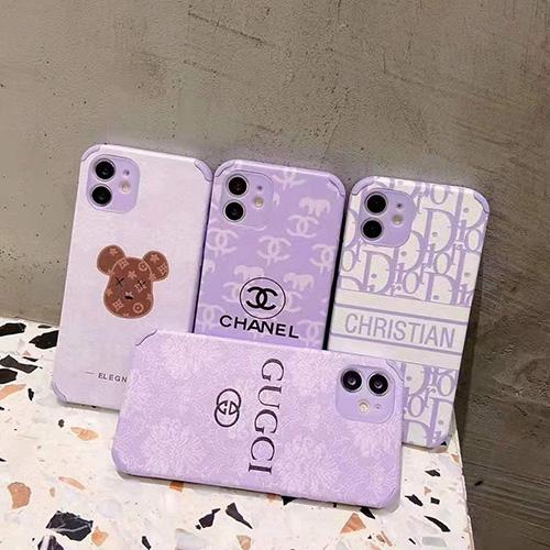 ブランド シャネルiphone13/12 pro max/11 pro max/se2 ケース モノグラム 紫色 優しい ディオール iphone 12Pro /11pro/xs max/8 plus ケース レディース 綺麗 Gucciアイフォン 12mini /11/xs /7 plus/8ケース おしゃれ 個性 ルイ・ヴィトン
