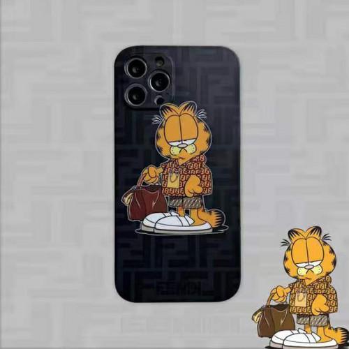 ブランド フェンディiphone 13/12 pro/12 pro max/12 mini /12カバー ガフィルド漫画柄 かわいい fendi アイフォン11/11 pro/11 pro max/se2 スマホケース面白い猫 おしゃれ iphone xr/xs/x/xs maxケースシンプル フルカバー 人気メンズ レディース