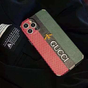 Gucciグッチブランド iphone 13/12 mini/12 pro/12/12pro maxカバーケース贅沢風アイフォン 11/ 11pro/11pro maxケース 蜜蜂刺繍ロゴ付きケース お洒落レディース向け HUAWEI P40 Pro/P40/P30 Pro/P30ケースジャケット型