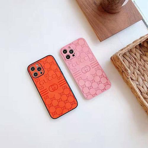 Gucciグッチブランド iphone 13/12s /12 pro max/12 mini ケース エンボス柄 モノグラム 美しいアイフォン11/11 pro/11 pro max カバーケース シンプル お洒落 iphone xr/xs/x/xs maxケース ジャケット型 フルカバー レディース愛用