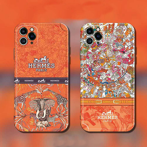 エルメス ブランド iphone 13/12 pro/12 pro max/12 スマホケース ジャケット型 動物絵柄 アイフォン11/11 pro/11 pro maxカバー 美しい おしゃれ 復古スタイル Hermes iphone se2/xr/xs/x/xs max 保護ケース メンズファッション レディース