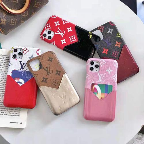 ルイ・ヴィトンブランドiphone13/12s/12 pro max/11 pro max/xr ケースジャケット型高級PU革 iphone 12Pro /11pro/xs max/8 plusカバーモノグラムプリント贅沢アイフォン 12mini /11/xs /7 plus/8ケースポケット付きエンボスiphone11/Xケースお洒落 圓角保護 メンズ レディース