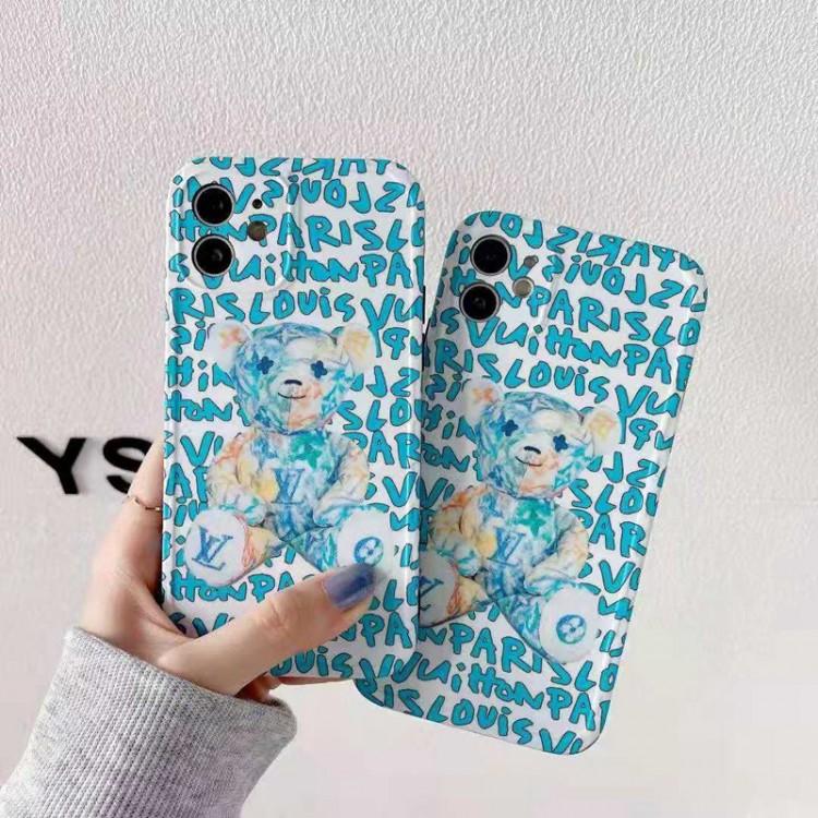 ルイ・ヴィトン ブランド iphone 13/12 mini/12 pro/12/12pro max ケースお洒落 熊柄 LV アイフォン11/11 pro/11 pro maxスマホケース 個性 文字 ファッション メンズ iphone xr/xs/x/xs max ケース レディース かわいい