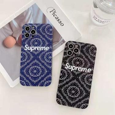 Supreme シュプリーム iphone13/12mini/12 pro max/12ケースきれい花柄 iphone 12Pro /11pro/11pro maxケース 復古スタイル iphone se2/11/xs max/xケース シンプル型 フルカバー レンズ 保護 ジャケット型 メンズ レディース人気