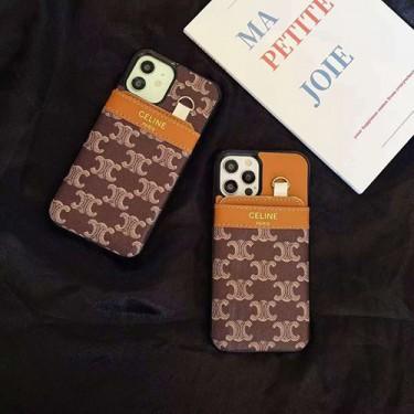 セリーヌ ブランドiphone 12/12 mini/12 pro/12 pro maxケースかわいいシンプル iphone 11 pro/xr/xs maxケースブランドカバー 手帳型 ストラップ付きiphone x/8/7plusケースカードポケット付き ファッションビジネス風