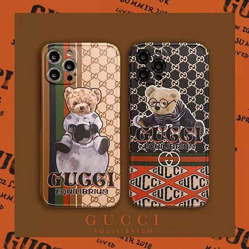 グッチ ブランド クマ柄 iphone 12/12 pro/12 mini/12 pro maxケース Gucci 宇宙 シンプル パロディ iphone 11/11pro/11 pro maxケース 可愛い iphone xs/x/7/8 plus/se2ケース 新品