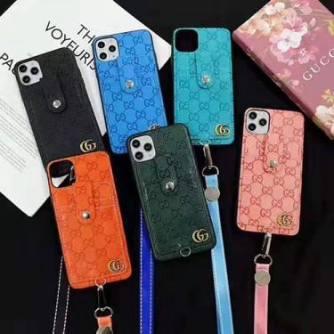 グッチ ブランドiphone 12/12 pro/12 mini/12 pro maxケース男女兼用人気 ビジネス ストラップ付き個性潮 iphone x/xr/xs/xs maxケース ファッションins風高級 人気