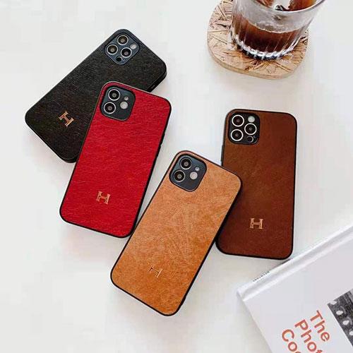 エルメス ブランド iphone12 mini/12pro max/12 max/12  proケース かわいいアイフォンiphonex/8/7 plusケース ファッション経典 小牛紋皮質iphone11/11pro maxケース 安いジャケット型 2020 iphone12ケース 高級 人気