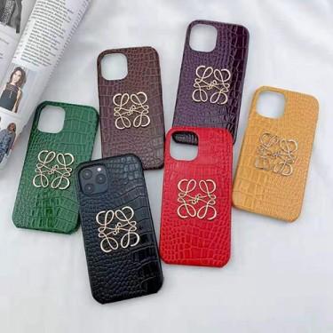 ロエベ ブランドワニ革ファッション セレブ愛用iphone 12/12 pro/12 mini/12 pro maxケースモリチャック ファッションシンプル個性潮iphone x/xr/xs/xs maxケース ファッション新品iphone xs/11/8 plus/se2ケース 大人気