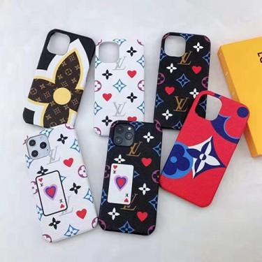 ルイ·ヴィトン iphone 12 mini/12 pro/12/12 pro maxケース ブランド モノグラム シンプル ポーカー風 花柄 iphone 8/7/6/x/xr/xs maxケース LV ジャケット 女性向け iphone11/11pro maxケース