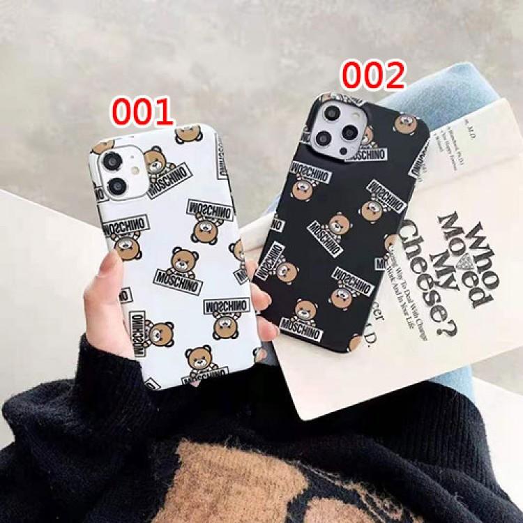 モスキーノ ブランドクマ柄 セレブ愛用iphone 12/12 pro/12 max/12 pro maxケース ファッションシンプル個性潮iphone x/xr/xs/xs maxケース ファッション新品可愛いiphone xs/11/8 plus/se2ケース 高級 人気