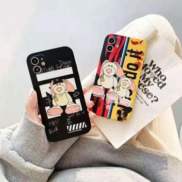 オフ-ホワイト iphone 12 pro/12 pro max/12 mini/12ケース かわいいペアお揃い アイフォン ブランド iPhone 11/11 pro/xr/xs max/xsケース ファッションins風かわいい iphone x/8/7/se2スマホケース ジャケットカバー 創意