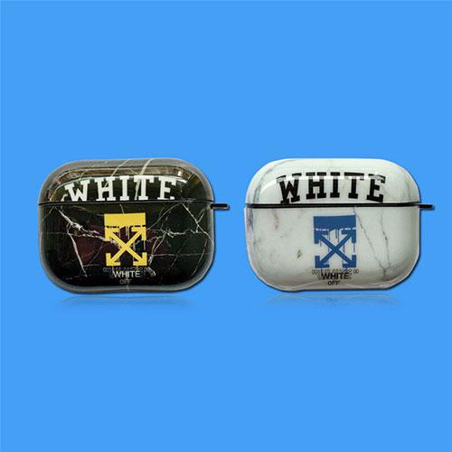 オフホワイト ブランドエアーポッズ プロ収納ケース Air Pods Proケース保護 Off-white Air Pods1/2/3ケース 耐衝撃 落下防止Air Pods Proケース 防塵