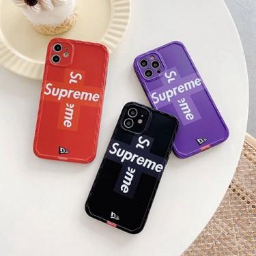シュプリーム iphone 12 mini/12 pro/12 pro maxケース ファッション セレブ愛用iphone11/11pro maxケースコピーカバー簡約iphone xr/xs maxケースファッション個性