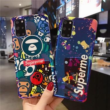 シュプリーム ブランドパロディ風iphone 12 /12 pro/12 mini/12 pro maxケース ステューシー 耐衝撃Galaxy s21/s10/s20+/s20 ultraケースおしゃれ 衝撃吸収 HUAWEI Mate 30 Pro 5G保護ケース
