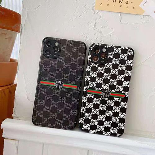 グッチ ブランドiphone 13/12pro max/12 pro/12/12 miniケース背面革紋 おしゃれ モノグラム アイフォン11/11 pro/11 pro maxカバー Gucci 経典ジャケット型 レンズカバー メンズ iphone xr/xs/x/xs max ケースファッション人気