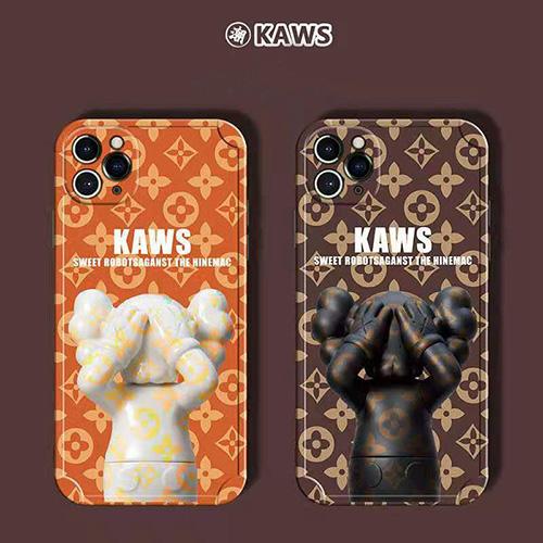 Kawsカウズiphone13/ iphone 12/12 proケース ブランド モノグラム アイフォン12 pro max/12 mini ケース オシャレ 人形柄 TPU製 アイフォン11/11pro/11 pro max/se2ケース ソフト耐衝撃 かわいい iphone xr/xs/x/xs max ケース男女 ファッション 人気
