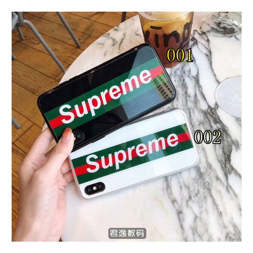 シュプリーム ブランド iphone 12/12 pro/12 mini/12 pro max/11/11 pro/11 pro max/se2ケース モノグラム ストランプ柄 Supreme 背面硝子 ジャケット型 galaxy s20/s10/note20ケース きらきら アクリル製 アイフォンx/xs/xr/8/7 plus/6s Plus/6/6sカバー レディース
