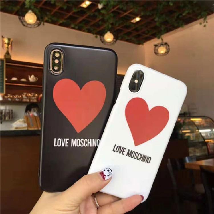 MOSCHINO/モスキーノレディース アイフォiphone12/12mini/12pro/12pro maxケース おまけつきiphone xr/xs max/11proケースブランドジャケット型 心絵柄 2020 iphone12ケース 高級 人気