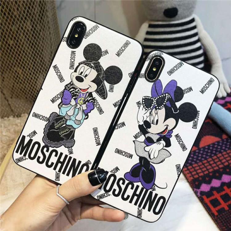 モスキーノ ディズニー iphone12/12mini/12pro/12pro maxケース ビジネス moschino セレブ愛用 iphone12 mini/11pro maxケース 激安 シンプル iphone11/x/xs/8/7ケース ジャケット型 ファッション