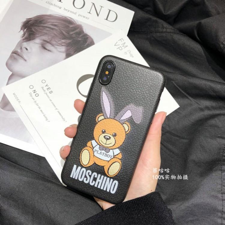 MOSCHINO/モスキーノブランド iphone12/12 mini/12 pro/12pro maxケース かわいいアイフォンiphone 12/11/xs/x/8/7 plusケース ファッション経典 メンズジャケット型 熊絵柄 2020 iphone12ケース 高級 人気
