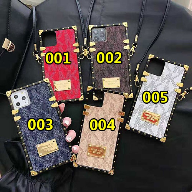 MK/マイケルコースアイフォンiphone 12/12mini/12pro/12pro maxケース ファッション経典  iphone12/11pro maxケース トランクデザイン高級 iphone x/8/7 plusケースジャケット型お洒落ストラップ付き