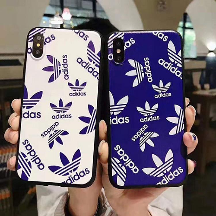 アディダス iPhone12mini/12pro max/11ケース トレフォイル柄 ブランド IPHONE 12/12pro/11 pro/11 pro maxケース Adidas 三つ葉 スポーツ風 耐衝撃 アイフォンx/xr/xs/8/7/6カバー メンズ レディース