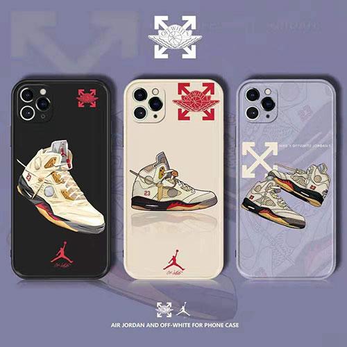ジョーダン オフホワイト ブランド コンボ スニーカー柄 iphone 12/12 pro/12 mini/12 pro max/11/11 pro/11 pro max/se2ケース かわいい 韓国風 off-white ジャケット型 iPhone X/XS/XRケース jordan 耐衝撃 Airjordan 23 アイフォンx/xs/xr/8/7/6カバー メンズ レディース