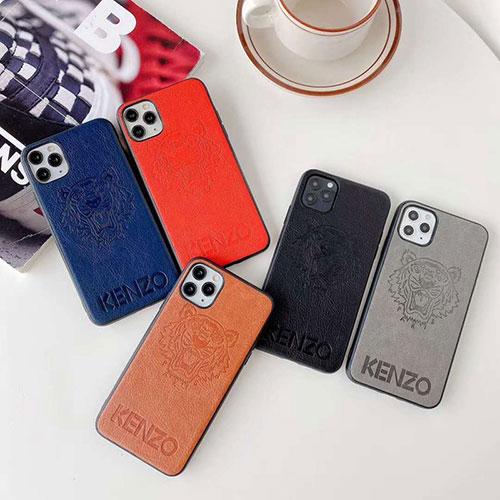 ケンゾー iphone12/12mini/12pro/12pro maxケース ビジネス Kenzo レザー ファッション セレブ愛用 iphone12 mini/11pro maxケース 激安モノグラム iphone12/11pro maxケース ブランド