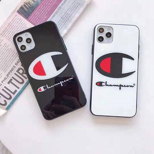 チャンピオン ガラス iphone12/12mini/12pro/12pro maxケース ブランド Champion かわいいアイフォンiphone 12/11/xs/x/8/7 plusケース ファッション経典 メンズ個性潮 iphone x/xr/xs/xs maxケース ファッション