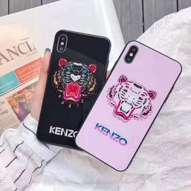 KENZO/ケンゾーブランド iphone12 mini/12/12pro/12pro maxケース ペアお揃い ガラス 虎頭柄  かわいいins風 iphone11/11pro/xs/x/8/7ケースかわいいモノグラム iphone12/11pro maxケース ブランド