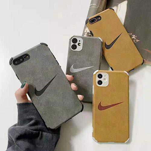 ナイキ iphone 12/12 pro/12 mini/12 pro max/11/11 pro/11 pro max/se2ケース フワフワ ブランド モノグラム NIKE 四角保護 アイフォンx/xs/xr/8/7カバー メンズ レディース