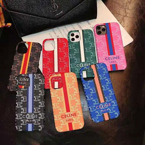 セリーヌ ブランド iphone 12/12 pro/12 mini/12 pro max/11/11 pro/11 pro max/se2ケース モノグラム CELINE ストライプ柄 芸能人愛用 アイフォンx/xs/xr/8/7カバー メンズ レディース 7色